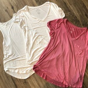 American Eagle soft and sexy tank/tee bundle
